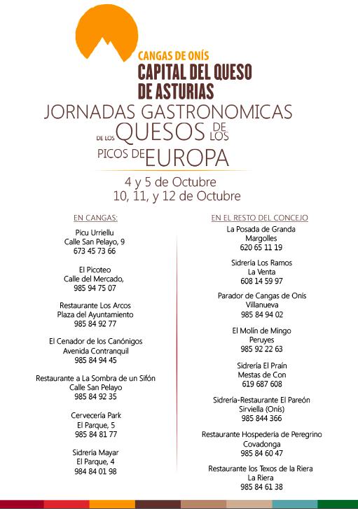 Jornadas Gastronómicas de Cangas de Onís 2014